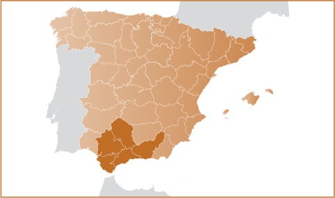 Map Of South Of Spain.South Map Exclusive Spain